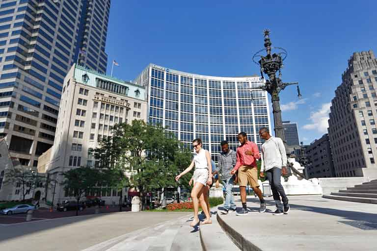 Students enjoy activity in downtown Indianapolis